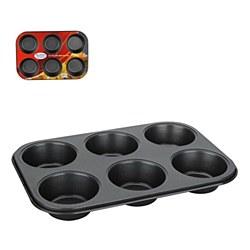 Mini Muffin Pan 6 cup Carbon steel - ai18439