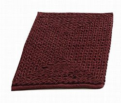 """Barron Poly/Cotton Chenille Rug 17""""x24"""" Red  by VCNY"""