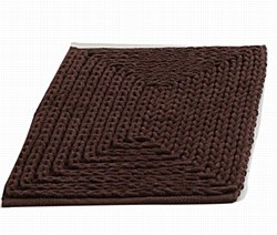 """Barron Poly/Cotton Chenille Rug 17""""x24"""" Brown by VCNY"""