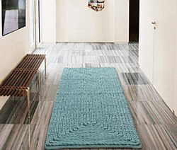 """Barron Poly/Cotton Chenille Rug 20""""x30"""" Blue by VCNY"""