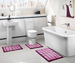 3pc Blox Tie Die Bathroom Set by VCNY Fuchsia
