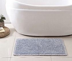 "Cavett 100% Cotton Tweed Bath Rug 20""X32"" - Blue"