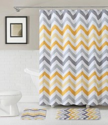 Victoria VCNY CORSO Cotton 3 Piece Bath Set Yellow/Grey