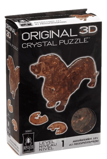 3d Crystal Puzzle-Teckel 41 pièces