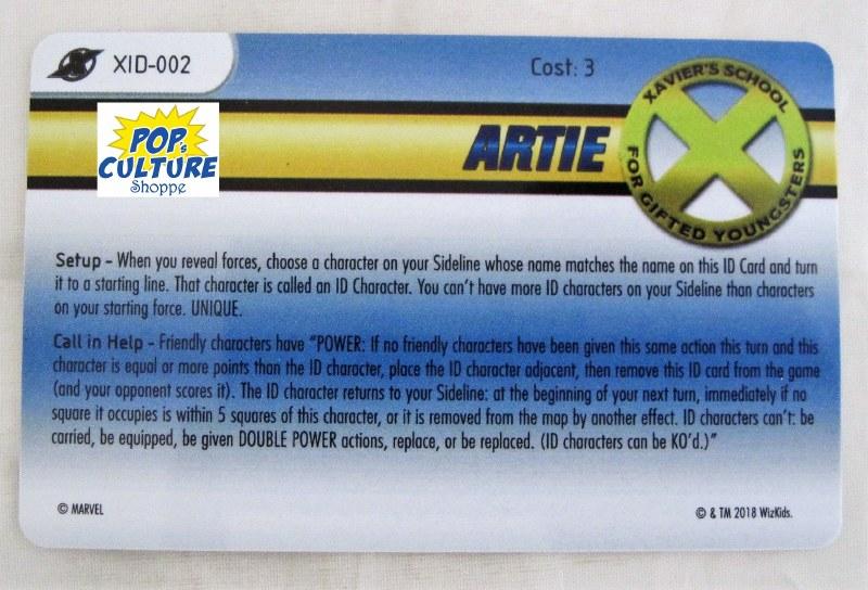 Heroclix X-Men Xaviers School XID card # 002 Artie