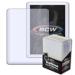 BCW: 25 Topload Rigid Plastic Card Sleeves