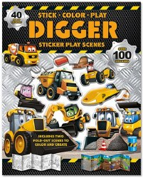 Digger Sticker Play Scenes