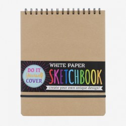 DIY Cover White Paper Sketch Book - 8x10.5""