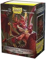 Dragon Shield: 100 Art Matte Valentine Dragon Sleeves