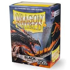 Dragon Shield: 100 Black Matte Non Glare Sleeves