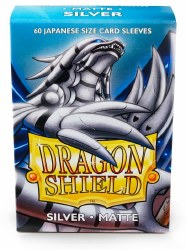 Dragon Shield Sleeves: 60 Small Matte Silver