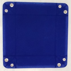 Blue Velvet Folding Dice Tray