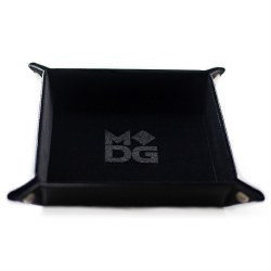 Black Velvet 10x10 Folding Dice Tray