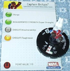 Heroclix Avengers 003 Captain Britain