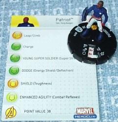 Heroclix Avengers 010 Patriot