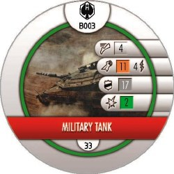 Heroclix Pacific Rim B003 Military Tank