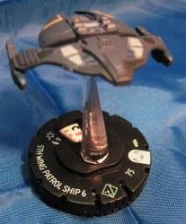 Heroclix Star Trek Tactics II 004 5th Wing Patrol Ship 6