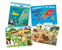 Kids 25 Piece Puzzle 4-Pack