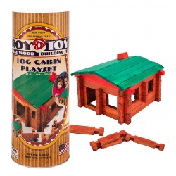 Log Building Set: Cabin Canister