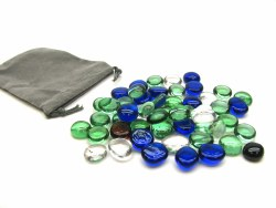 Stones - Mana (Blue, Green, and Clear Glass)