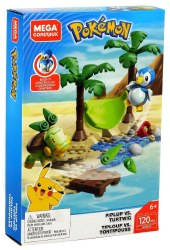 Mega Construx: Pokemon Piplup vs. Turtwig