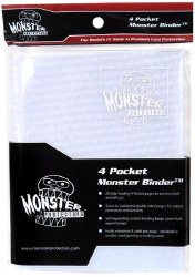 Monster 4-Pocket Binder: Holofoil White