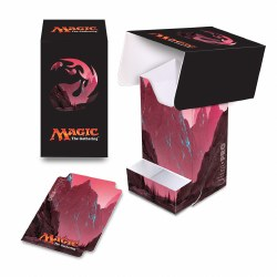 Magic the Gathering Mana Deck Box with Dice Tray Red