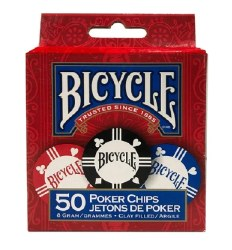 Poker Chips - Bicycle 50 Clay