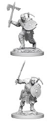 D&D HD Minis: Earth Genasi Fighter (Male)