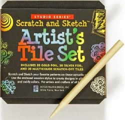 Scratch & Sketch Artist's Tile Set