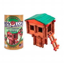 Log Building Set: Tree House Canister