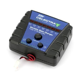 E-Flite Celectra LiPo DC Charger 1 Cell Variable Rate 3.7V