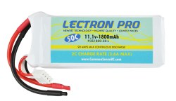 Lectron Pro 11.1V 1800mAh 50C with Bare Leads for Traxxas 1/16