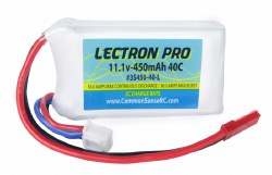 Lectron Pro 11.1V 450mAh 40C Lipo Battery with JST Connector