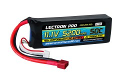 Lectron Pro 11.1V 5200mAh 50C Lipo Battery with Deans-Type Connector