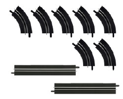 Single-Lane Bends / Straight Section Extension Set Carrera Go!
