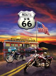 Route 66 Diner 1000pc
