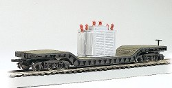52' Depressed-Center Flat Car with Transformer Load HO Scale