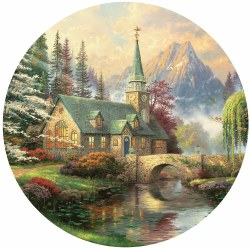 Kinkade: Dogwood Chapel 500pc