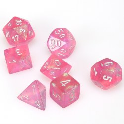 7-set Cube Borealis Pink with Silver