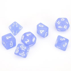 7-set Cube Blue with White