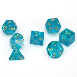 7-set Cube Borealis Teal with Gold