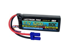 Lectron Pro 11.1V 5200mAh 50C Lipo Battery with EC5-type Connector