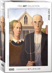 American Gothic by Grant Wood - 1000 pc