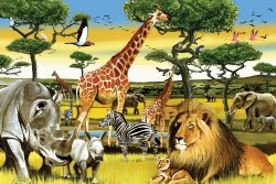 African Plains - Floor Puzzle