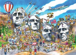 Doodle Town: Mount Rushmore 1000pc