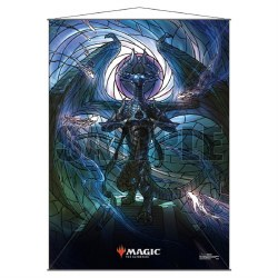 Stained Glass Planeswalker Wall Scroll Nicol Bolas for Magic the Gathering