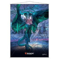 Stained Glass Planeswalker Wall Scroll Ugin for Magic the Gathering