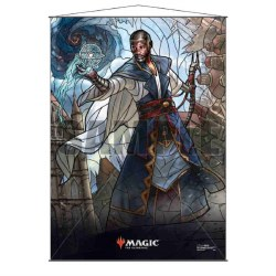 Stained Glass Planeswalker Wall Scroll Teferi for Magic the Gathering