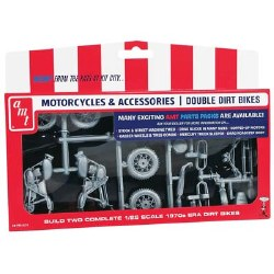1/25 Motorcycle Parts Pack Double Dirt Bike